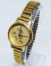Load image into Gallery viewer, 1980s Lorus Y481 8730 by Seiko Watch | Lorus Gold Coin Mickey Mouse Watch - Vintage Radar
