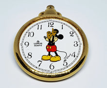 Load image into Gallery viewer, Lorus V501-0A28D1 Mickey Mouse Disney Pocket Watch | 80s Pocket Watches - Vintage Radar