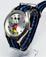 Load image into Gallery viewer, Men's Silver-Tone Mickey Mouse Watch | Disneyland Vintage Watch - Vintage Radar