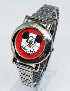 Disney Limited Edition Mickey Mouse Watch | Vintage Red Dial 90's Watch - Vintage Radar