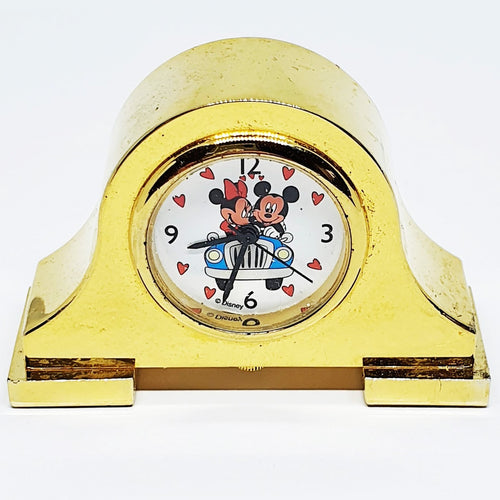 90s Disney Mickey And Minnie Mouse Vintage Table Clock Home Decor - Vintage Radar