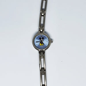 Tiny Mickey Mouse Silver-Tone Watch | Disney Time Works Watch For Women - Vintage Radar