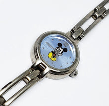 Load image into Gallery viewer, Tiny Mickey Mouse Silver-Tone Watch | Disney Time Works Watch For Women - Vintage Radar
