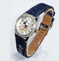 Rhinestones Elegant Vintage Disney Watch | Mickey Mouse Watch Collection - Vintage Radar