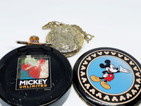 90s Rare Railroad Conductor Mickey Mouse Verichron Pocket Watch - Vintage Radar