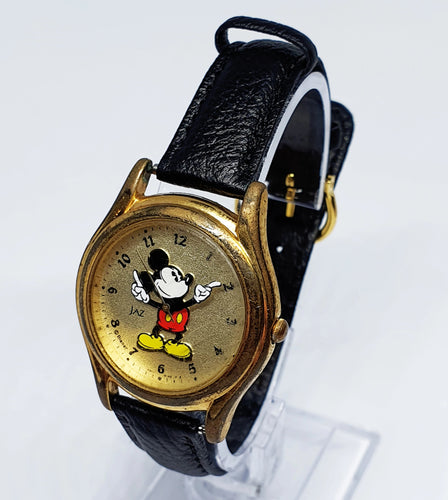 Mickey Mouse Jaz Gold-Tone Disney Watch | Vintage Disney Watches Collection - Vintage Radar