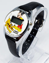 Load image into Gallery viewer, Mickey And Pluto Disney LCD Vintage Watch | Bradley Quartz Mickey Mouse Watch - Vintage Radar