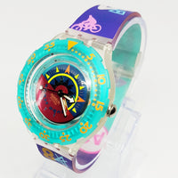 90s Hippie Swiss Swatch Watch for men and women | TIPPING COMPASS SDK111 - Vintage Radar