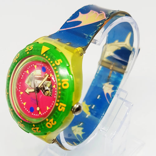 90s سواتش خمر ووتش | 1990 HAPPY FISH SDN101 Hippie Swatch - Vintage Radar