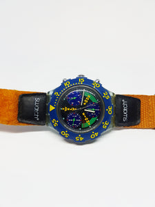 SLAMMA JAM SEN100 Scuba Swatch | Vintage Swiss Chronograph Watch