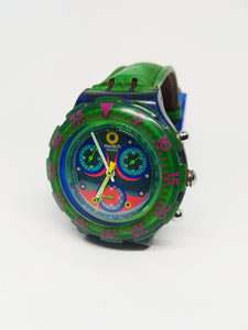 BLUE SKY SBN100 Swatch Watch | 90s Scuba Chronograph Swatch