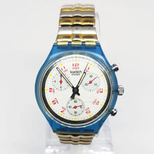 Load image into Gallery viewer, JFK SCN103 Swatch Chronograph Watch | 1991 Vintage Swiss Chrono