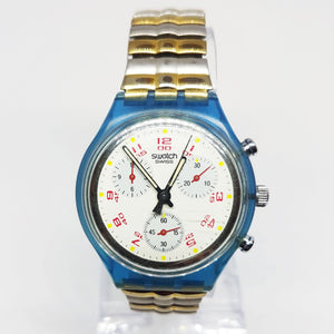 JFK SCN103 Swatch Chronograph Watch | 1991 Vintage Swiss Chrono