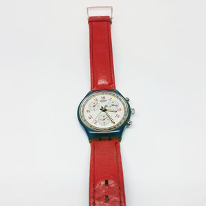 1991 JFK SCN103 Vintage Swatch Chronograph Watch | 90s Swiss Watch