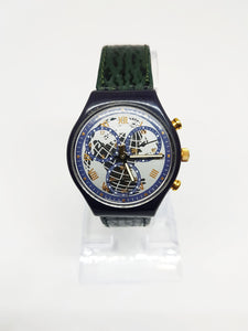 TIMELESS ZONE SCN104 Swatch Watch | 1991 Vintage Swatch Chronograph
