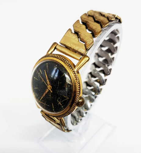 Siku Duro-Swing Antimagnetic Mechanical Watch | Gold-Tone Vintage Watch