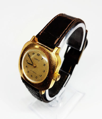 VATIC Square Mechanical Vintage Watch | Gold-Tone Watches For Women - Vintage Radar