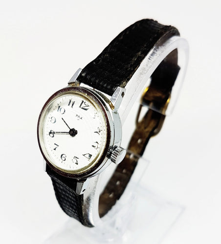 Small Pax Silver-Tone Mechanical Watch | Minimalist Vintage Watches - Vintage Radar