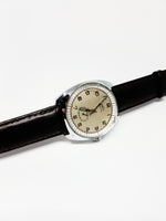 Maty Besancon Silver-Tone Mechanical Watch For Men | Vintage Watches - Vintage Radar