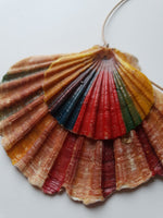 Handpainted Seashell Double-Layered Necklace - Vintage Radar