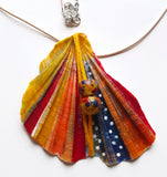 Butterfly Wing Colorful Handmade Necklace | Unique Seashell Pendant - Vintage Radar