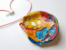 Load image into Gallery viewer, Unique Colorful Handpainted Necklace | Statement Jewelry - Vintage Radar