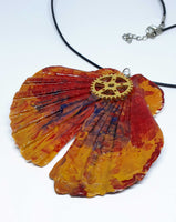 Butterfly Effect Handpainted Necklace | Handmade Jewelry - Vintage Radar