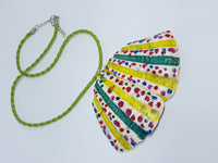Unique Butterfly Wings Handpainted Necklace | Handmade Collection - Vintage Radar