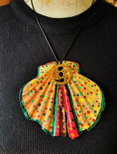 Load image into Gallery viewer, Colorful Butterfly Wing Statement Necklace with Watch Movement Wheels - Vintage Radar