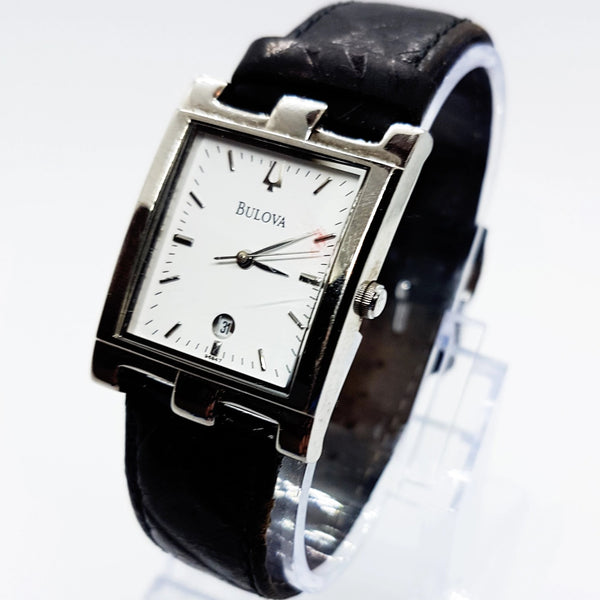 Square Silver-Tone Bulova Vintage Watch | Bulova Watches Collection - Vintage Radar