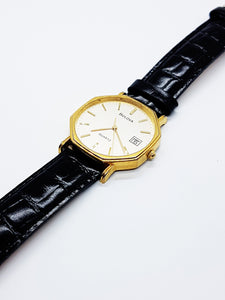 Gold-Tone Geometric Bulova Vintage Watch | Bulova Quartz Watch - Vintage Radar