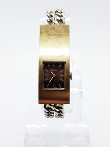 Caravelle By Bulova Vintage Watch | Square Gold-Tone Watch - Vintage Radar