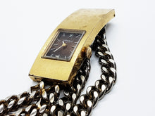 Load image into Gallery viewer, Caravelle By Bulova Vintage Watch | Square Gold-Tone Watch - Vintage Radar