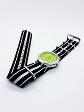 Load image into Gallery viewer, Swap Green Dial Vintage Quartz Watch | Silver-Tone Vintage Watch - Vintage Radar
