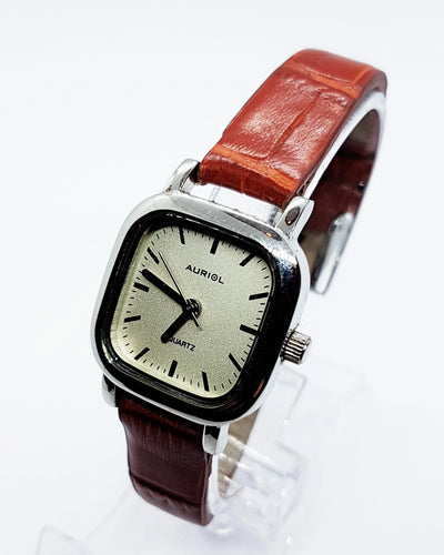 Square Silver-Tone Auriol Watch For Ladies | Vintage Watches For Women - Vintage Radar