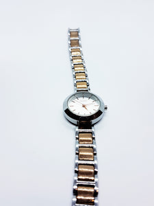 Silver-Tone DKNY Elegant Vintage Watch | Quartz Watches For Women - Vintage Radar