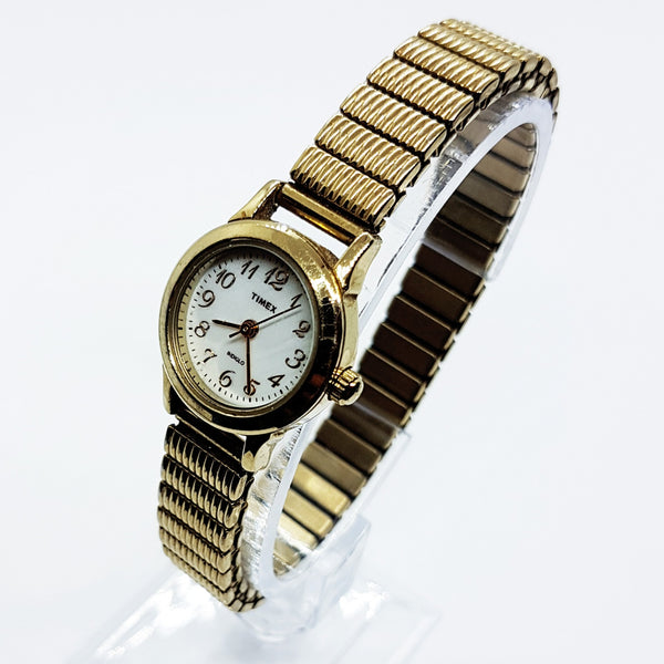 Small Womens Gold Timex Indiglo Watch | Cool Ladies Wedding Watch Jewelry - Vintage Radar
