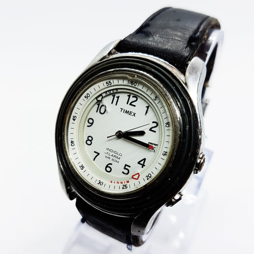 Timex Indiglo Alarm Divers Style Watch | Mens Large Size Timex Indiglo Watch - Vintage Radar