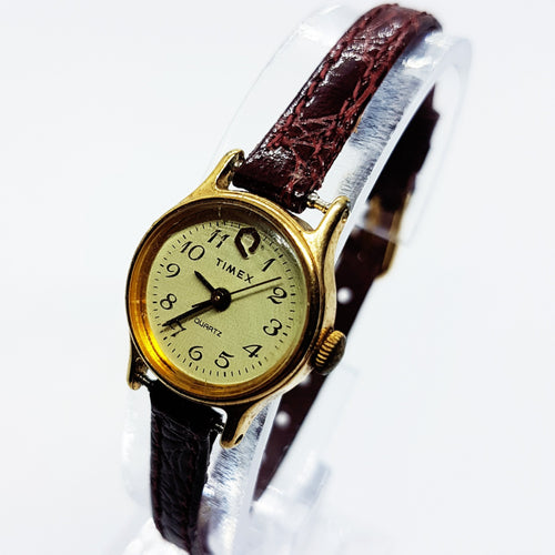 Small 90s Timex Q Quartz Watch for Women | Womens Old Timex Watch - Vintage Radar
