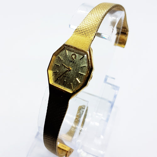 90s Octagonal Timex Q Watch for Women | Ladies Gold Quartz Timex Watch - Vintage Radar
