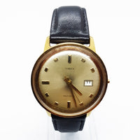 1971 Timex Cal 32 46360 Viscount Self Wind Man's Gold Tone Watch - Vintage Radar