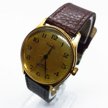Load image into Gallery viewer, Gold-Tone Timex Mechanical Watch | Vintage Gold Timex Windup Watch - Vintage Radar