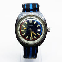 1971 Timex Marlin Pepsi Diver Nato Strap Watch | 70s Timex Mechanical Date Watch - Vintage Radar