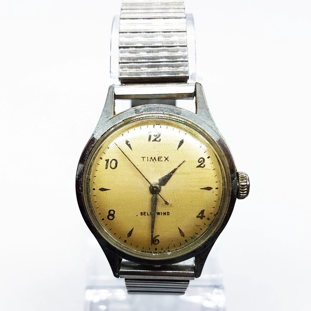 Rare 1950s Timex Mechanical Watch | 50s Vintage Self-Winding Timex Watch - U.S. Time Corporation - Vintage Radar