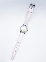 Vintage 1960s Timex Watch | 60s Wind-up Timex Steel Watch - Pink Watch Strap - Vintage Radar