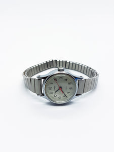 Classic Quartz Timex Watch for Women | Silver-Tone Vintage Watch - Vintage Radar