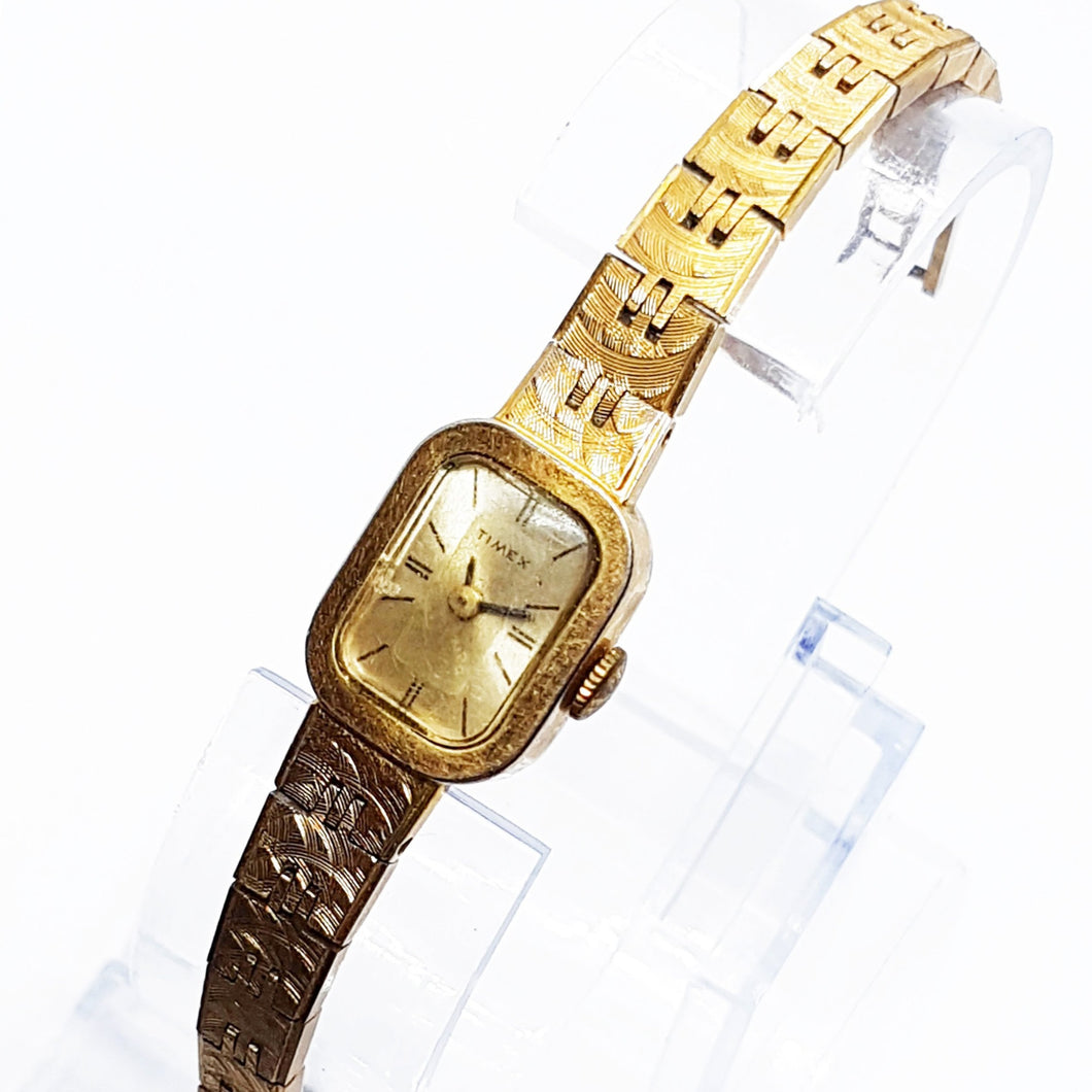 Gold-Tone Square Timex Vintage Watch | Mechanical Watch For Women - Vintage Radar