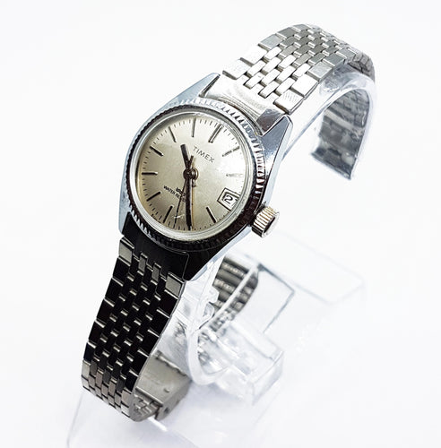 Silver-Tone Mechanical Timex Watch | Vintage Watches Collection - Vintage Radar
