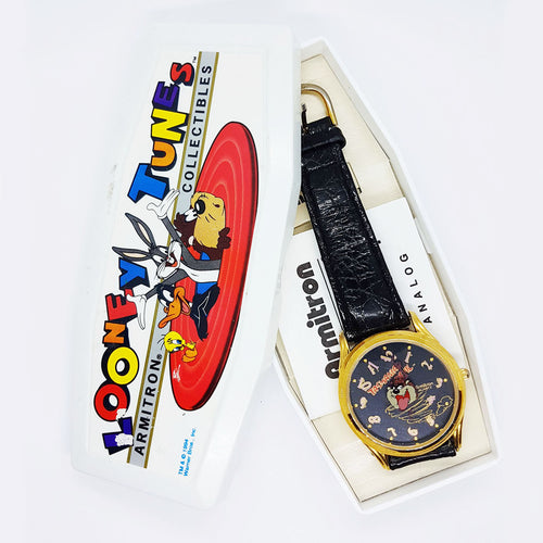 90s Armitron Tasmanian Devil Watch with Original Looney Tunes Box