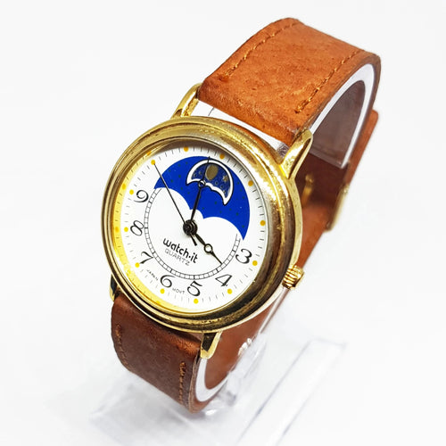 Watch it Moon Phase Watch | Beautiful Gold-tone Vintage Watch - Vintage Radar